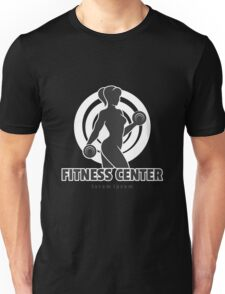 Training Woman Fitness Center Emblem Unisex T-Shirt