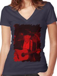 George Strait - Celebrity Women's Fitted V-Neck T-Shirt