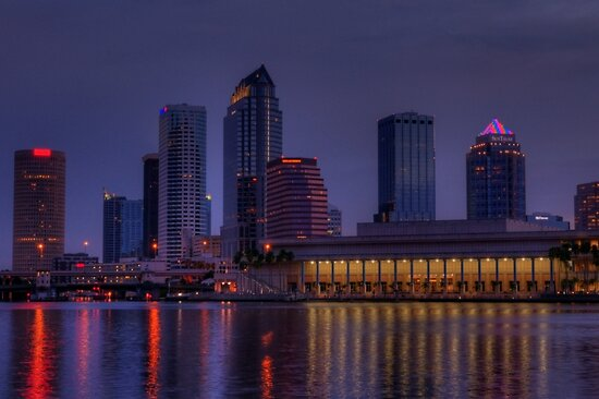 Tampa Skyline by Kim McClain Gregal