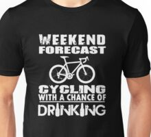 Weekend Forecast Cycling Unisex T-Shirt