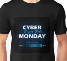 Cyber Monday sale design template Unisex T-Shirt