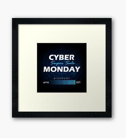 Cyber Monday sale design template Framed Print