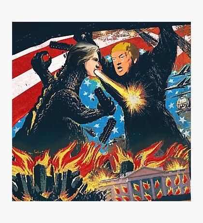 D. Trump VS H. Clinton Photographic Print