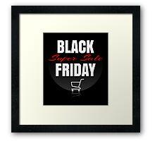 Black Friday sale design template Framed Print