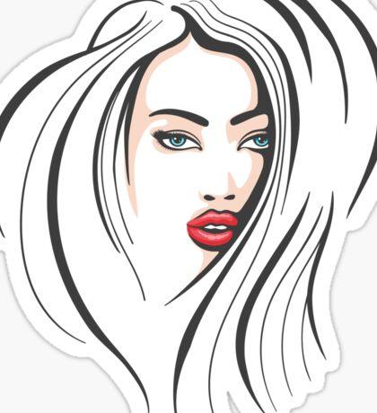 Beautiful Female Face Sticker