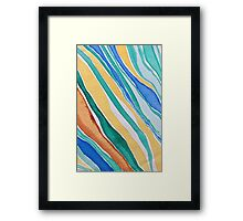 Ribbons of Colored Sea Grass Framed Print