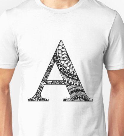 Mandala Letter A Unisex T-Shirt