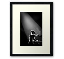 On Piano Framed Print