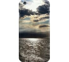 Clouds over the german north sea iPhone Case/Skin