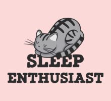 Sleep Enthusiast Cat Nap T Shirt One Piece - Short Sleeve