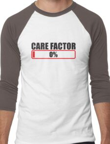 CARE FACTOR 0 Zero percent progress bar Men's Baseball ¾ T-Shirt