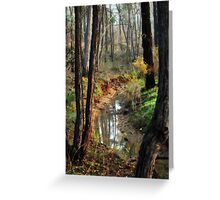 Whipstick Bush Scenery in Winter by Lorraine McCarthy Greeting Card