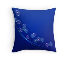 Magic background with bubbles Throw Pillow