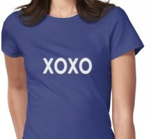 XOXO - Kisses and Hugs T-Shirt Card Womens Fitted T-Shirt