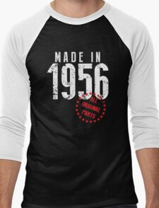 Made In 1956, All Original Parts Men's Baseball ¾ T-Shirt