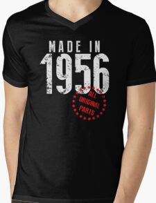 Made In 1956, All Original Parts Mens V-Neck T-Shirt