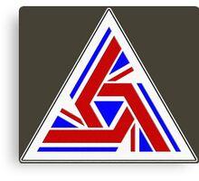 Alien UK Flag Patch Canvas Print