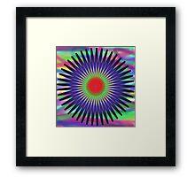 Psychadelic Pattern Framed Print