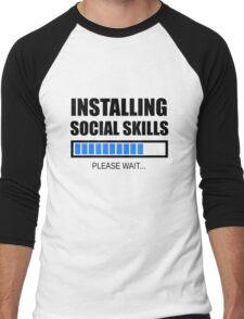 Installing Social Skills... Please Wait Men's Baseball ¾ T-Shirt