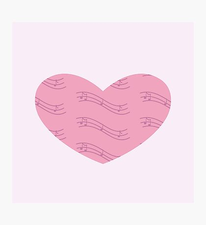 Musical heart Photographic Print