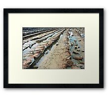 Lava rock formations Framed Print