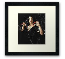 VAMPIRA RED LIP Framed Print