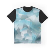 Abstract blue geometric pattern Graphic T-Shirt