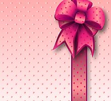 Pink Present Bow by Medusa81