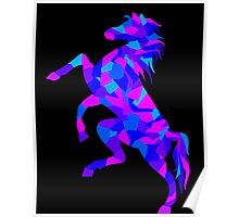 Colorful Geometric Horse Poster