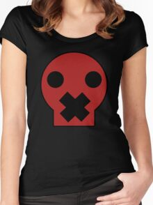 Taped Skull Cartoon Women's Fitted Scoop T-Shirt