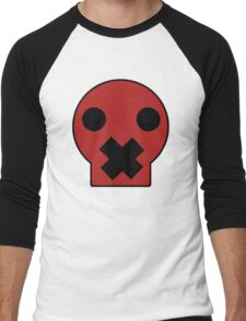 Taped Skull Cartoon Men's Baseball ¾ T-Shirt