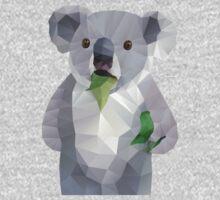 Koala with Koalafication Polygon Art One Piece - Long Sleeve
