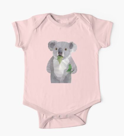 Koala with Koalafication Polygon Art One Piece - Short Sleeve