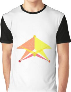 Double Arrow Triangle Graphic T-Shirt