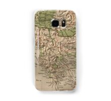 Vintage Physical Map of Greece (1880) Samsung Galaxy Case/Skin