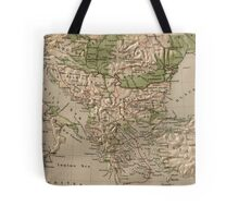 Vintage Physical Map of Greece (1880) Tote Bag