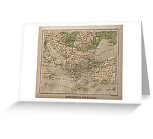 Vintage Physical Map of Greece (1880) Greeting Card