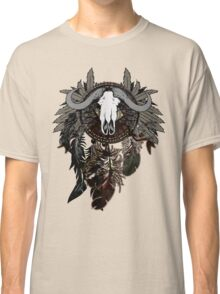 Dreamcatcher with Bull Skull Classic T-Shirt