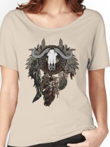 Dreamcatcher with Bull Skull Women's Relaxed Fit T-Shirt