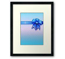 Blue Present Bow Framed Print