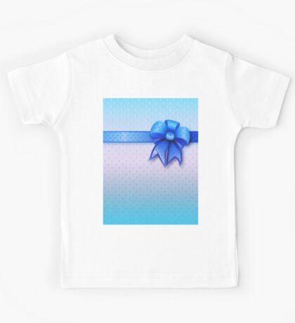 Blue Present Bow Kids Tee