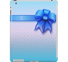 Blue Present Bow iPad Case/Skin