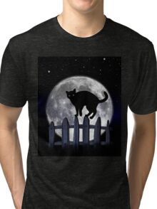 spooky black cat Tri-blend T-Shirt