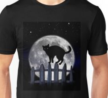 spooky black cat Unisex T-Shirt