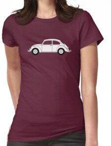 VW Beetle White Womens Fitted T-Shirt