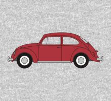VW Beetle Red Kids Tee