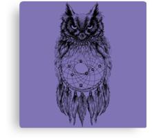 Dreamy Owl_Black Canvas Print