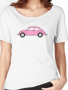 VW Beetle Pink Women's Relaxed Fit T-Shirt