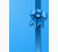 Blue Present Bow Unisex T-Shirt