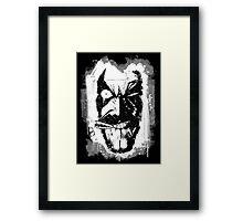 Lobo (w/ Grunge Background) Framed Print